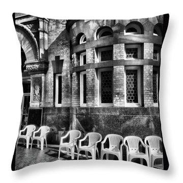 Throw Pillow featuring the photograph Takin It To Da Bank  by Robert McCubbin