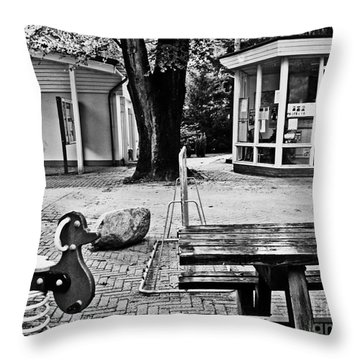 Throw Pillow featuring the photograph Taking A Break by Andy Prendy