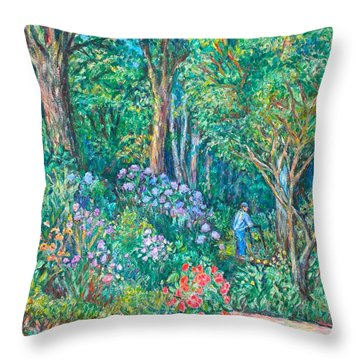 Throw Pillow featuring the painting Taking A Break by Kendall Kessler