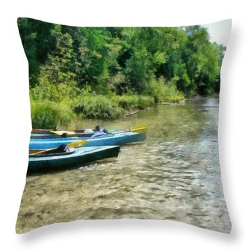 Taking A Break On The Platte Throw Pillow by Michelle Calkins