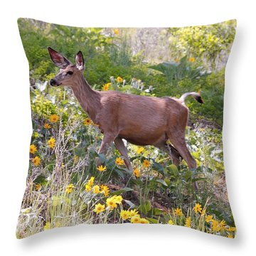Throw Pillow featuring the photograph Taking A Stroll In The Country by Athena Mckinzie