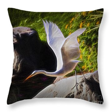 Taking Flight  ... Throw Pillow by Chuck Caramella