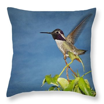 Throw Pillow featuring the photograph Taking Flight by Peggy Hughes