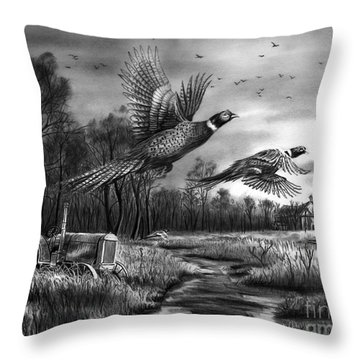 Taking Flight  Throw Pillow by Peter Piatt