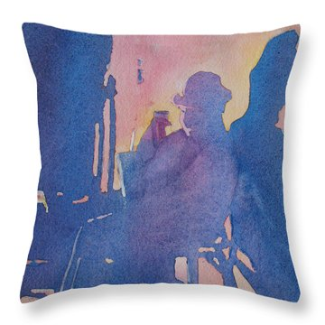 Taking Ten With My Shadow Throw Pillow by Jenny Armitage