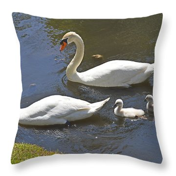 Taking The Kids Out Throw Pillow by Judith Morris
