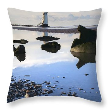 Talacer Abandoned Lighthouse Throw Pillow
