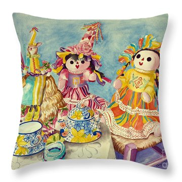 Talavera Tea With Friends Throw Pillow