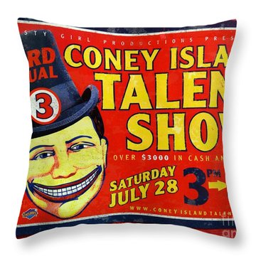 Talent Show Throw Pillow by Ed Weidman