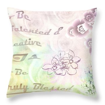 Talented And Creative Throw Pillow