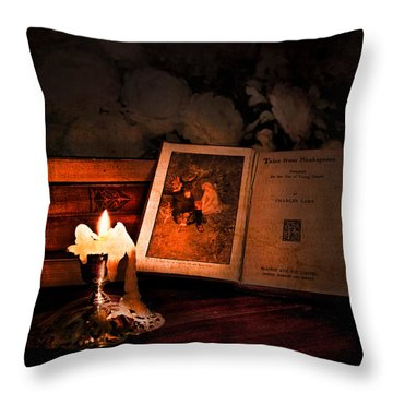Tales From Shakespeare Throw Pillow by Theresa Tahara