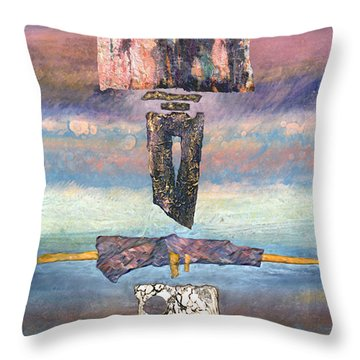 Throw Pillow featuring the painting Talisman by Ursula Freer