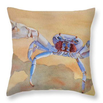 Throw Pillow featuring the painting Talk To The Claw by Judy Mercer