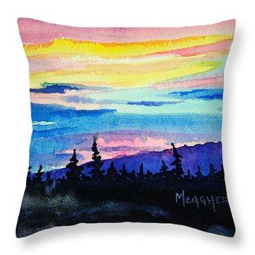 Talkeetna Lodge Alaska Throw Pillow by Spencer Meagher