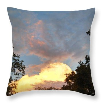 Throw Pillow featuring the photograph Talking Clouds by Jean Marie Maggi