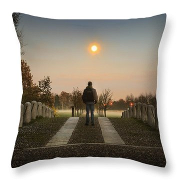 Talking To The Moon Throw Pillow