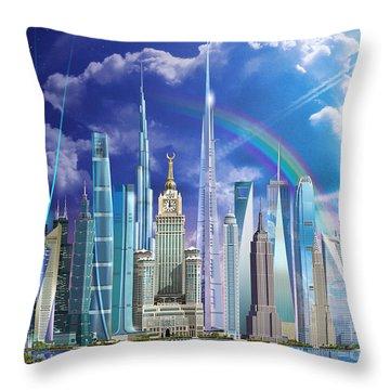 Tall Buildings Throw Pillow