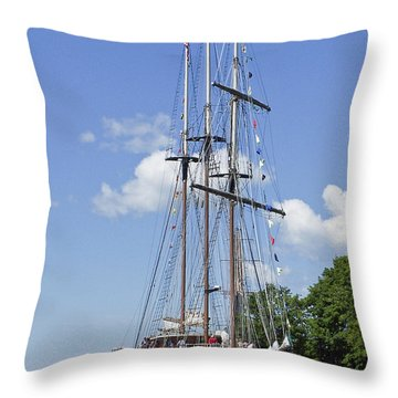 Tall Ship 2 Throw Pillow