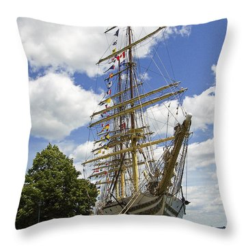 Tall Ship 3 Throw Pillow