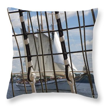 Tall Ship 4 Throw Pillow