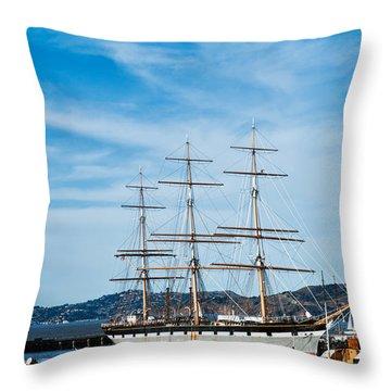 Tall Ship Balclutha San Francisco Throw Pillow