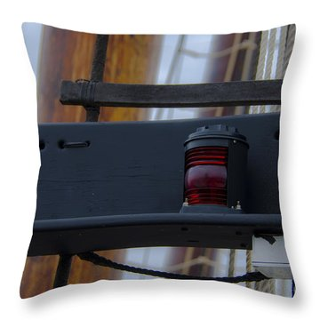 Tall Ship Bow Light Throw Pillow by Dale Powell