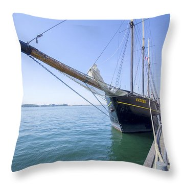 Throw Pillow featuring the photograph Tall Ship Kajama by Ross G Strachan