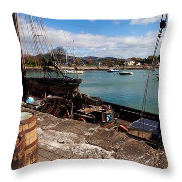 Tall Ship Keeywaydin , Dungarvan Throw Pillow