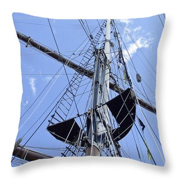 Tall Ship Mast And Crows Nest 1 Throw Pillow