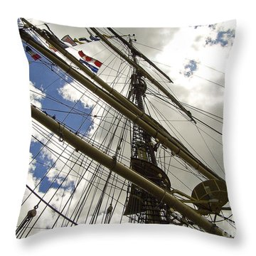 Tall Ship Mast And Crows Nest 2 Throw Pillow