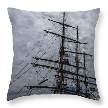 Sailing The Clouds Throw Pillow by Dale Powell
