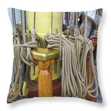 Tall Ship Rigging 4 Throw Pillow