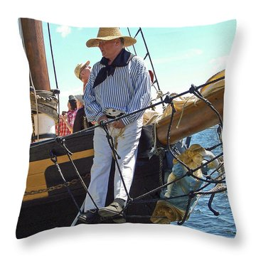 Tall Ship Sailor Throw Pillow