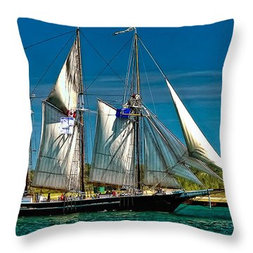 Tall Ship Throw Pillow by Steve Harrington