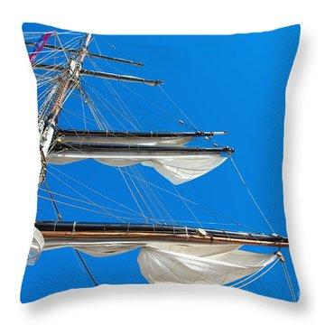 Tall Ship Yards Throw Pillow