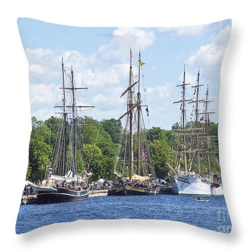 Tall Ships 1 Throw Pillow