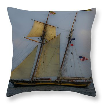 Tall Ships In The Lowcountry Throw Pillow by Dale Powell