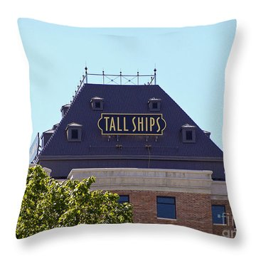 Tall Ships Sign 1 Throw Pillow