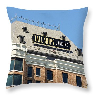 Tall Ships Sign 2 Throw Pillow