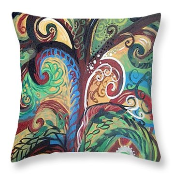 Tall Tree Winding Throw Pillow by Genevieve Esson