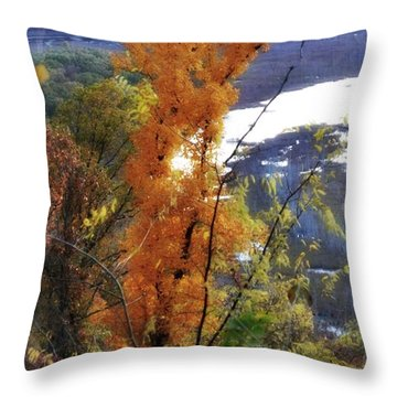 Tall Yellow Tree Throw Pillow by Marty Koch