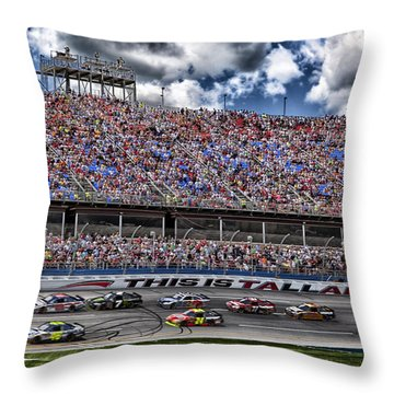 Talladega Superspeedway In Alabama Throw Pillow