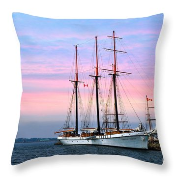 Tallship Empire Sandy Throw Pillow