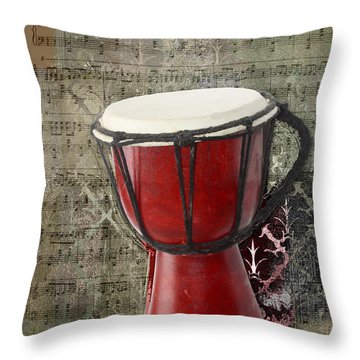 Tam Tam Djembe - S02a Throw Pillow by Variance Collections