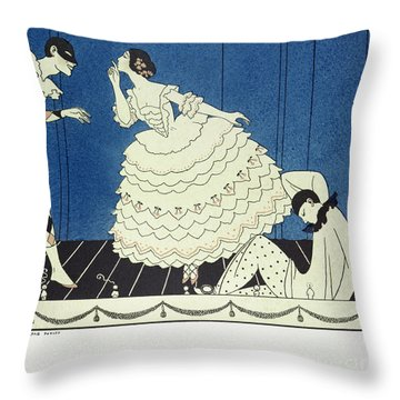Tamara Karsavinaas Columbine Throw Pillow by Georges Barbier