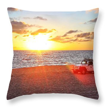 Tamarack At Sunset Throw Pillow by Ann Patterson