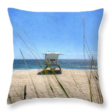 Tamarack Beach Throw Pillow