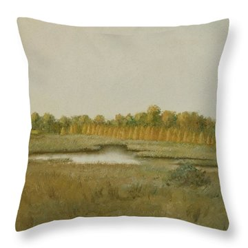 Tamarack Pond Throw Pillow by Sherri Anderson