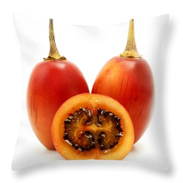 Throw Pillow featuring the photograph Tamarillo by Fabrizio Troiani