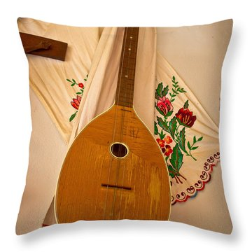 Tamburica Croatian Traditional Music Instrument Throw Pillow by Brch Photography